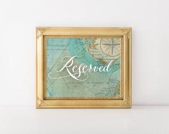 Reserved Travel Wedding Sign, Instant Download! (Printable)