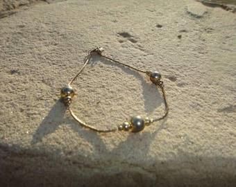 Vintage anklet ball anklet bracelet Vintage jewelry Vintage