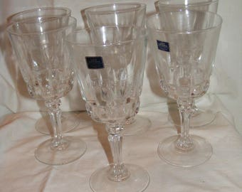 Set of 6 Lady Victoria Crystal Stemware