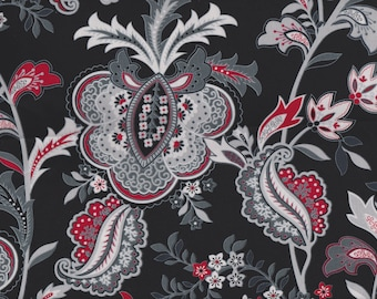 BTY Black, White & Currant Print 100% Cotton Quilt Crafting HENRY GLASS Fabric by the Yard