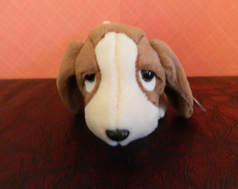 "TY Brown Basset Hound Dog Beanie Baby ""Tracker"" (B)"