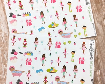 50 Self Care Planner Stickers, Spa Day Stickers, Self Care Stickers, Me Time Stickers, Health Care Stickers, Face Mask Stickers, Facial