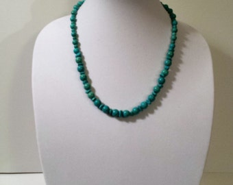 turquoise bead chips necklace