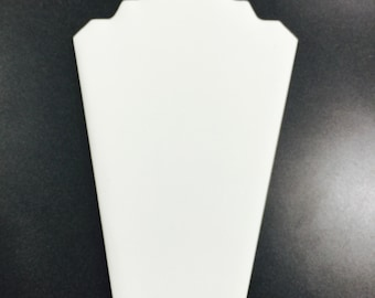 Necklace Display White Leatherette