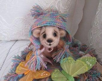 Bear Pippa  - artist teddy bear, OOAK, artist bear
