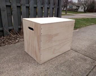 Super Sturdy CrossFit Box with bracing / 30 x 24 x 20 Box / WOD Box / Plyo Box / CrossFit Equipment / Jumping Box / Jump Box / Exercise Box