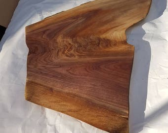 Live edge walnut serving board , charcuterie platter large