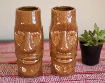 Vintage Tiki Man Mugs | Set of 2