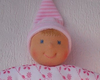 Handmade rag doll, Personalized baby girl gift, First Waldorf doll, Baby shower gift, Cloth doll, Fabric doll,  Toddler doll,