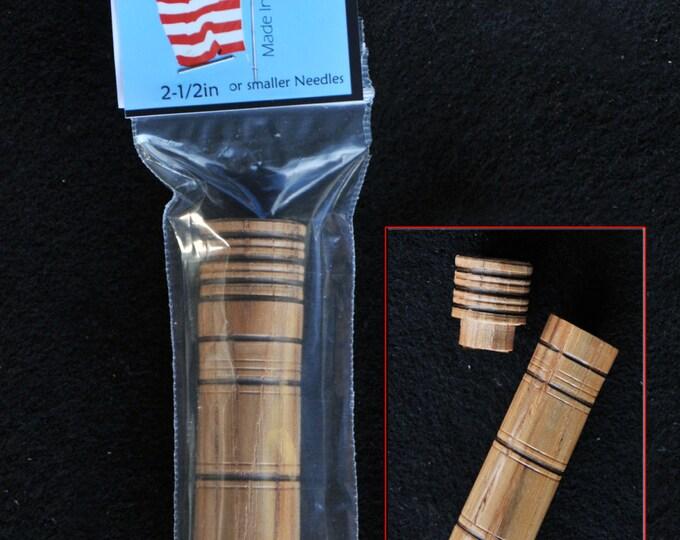 Hand made Beautiful hickory wood needle storage case