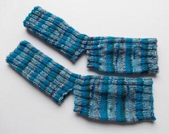 hand-knitted yoga socks, Gr. 38/39/40 (EU),  blue