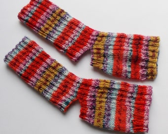 hand-knitted yoga socks, Gr. 36/37/38 (EU),  orange colorful