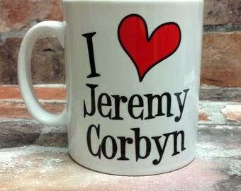 New I love Jeremy Corbyn mug gift 11oz cup present