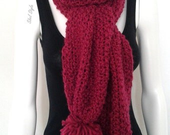 Winter scarf neck warm-up-neck scarf tassels woman knitting handmade rose, gift idea mother, woman gift idea.