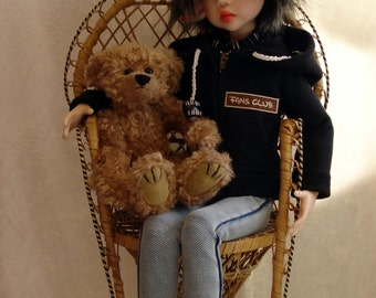 MSD dolls clothes/hoodie, top and jeans for Kaye Wiggs doll and MSD dolls