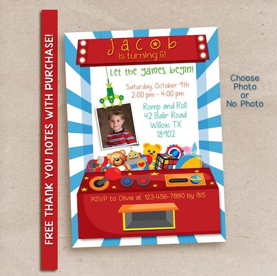 Arcade party invitation / Digital printable invitation