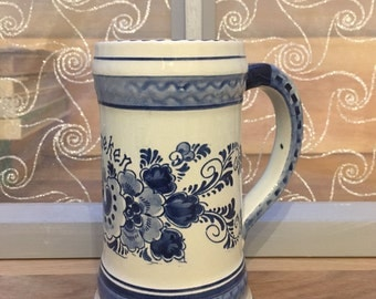 Delft Holland Blue and White Beer Mug