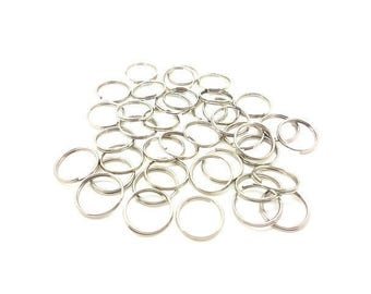 50 silver grey double junction 16mm rings