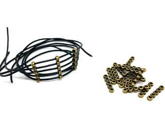 50 passers-by 5 holes Bronze for cords of 1.8 mm Maximum