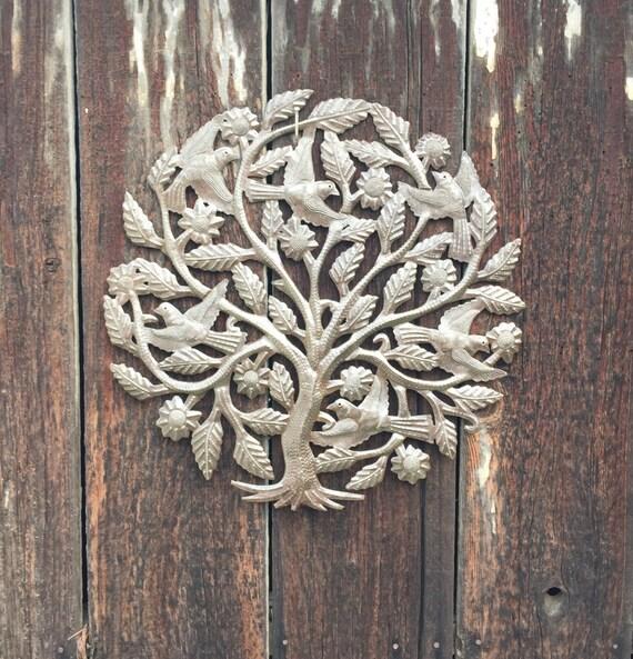 """Garden Tree of Life, Roots, Indoor and Outdoor, Fair Trade, Haitian 22"""" x 22"""""""