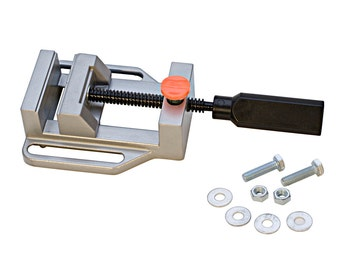 """9-1/2"""" x 4-1/2"""" Aluminum Benchtop Drill Press Jaw Vise Jewelry Making Holding Tool"""