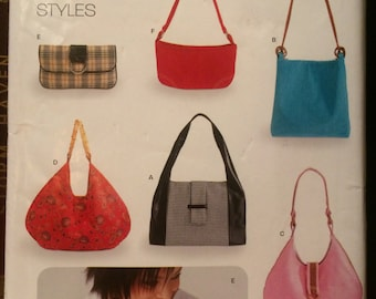 Nice Pattern for Six Styles of Purses---New Look 6397---Uncut