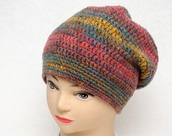 Slouchy beanie Winter Hat Womens hats Slouchy hat Chunky hat Womens Gift ideas Crochet hat Wife gift for wife gift for friend gift for her