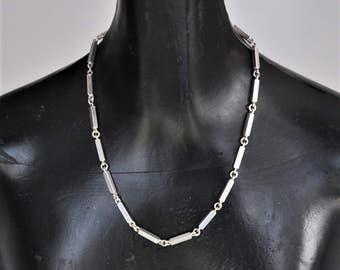Rey Urban Modernist Silver Necklace Sweden 1980s Scandinavian  Jewelry Nordic Design