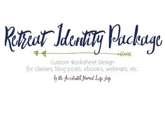 Custom Retreat Branding Identity Package