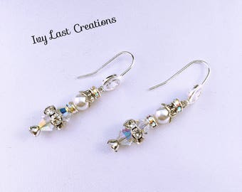 NEW Swarovski crystal earrings wedding earrings / maid of honor/jewelry mother of the bride