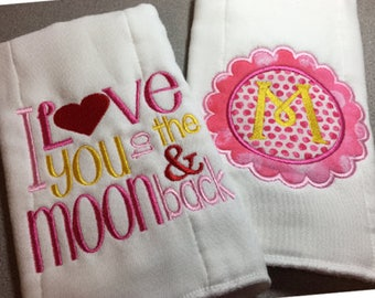 Baby Burp Cloths, Personalized Burp Cloth, Baby Burp Cloth, Burp Cloth Set, Baby Girl Burp Cloth
