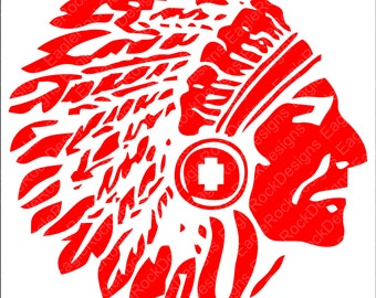 Warrior Head SVG, DXF, EPS, Png, Cut File For Cameo and Cricut, Warriors Svg, Warrior Mascot, Instant Download