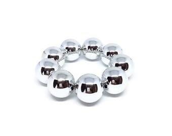 Silver Plated Stretchy Bracelet