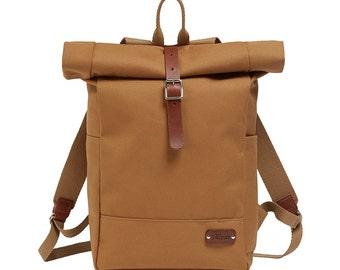 Backpack / Rucksack / Roll Top Backpack / Canvas Backpack / Canvas Rucksack / Bike bag / Bicycle bag / Rolltop Backpack