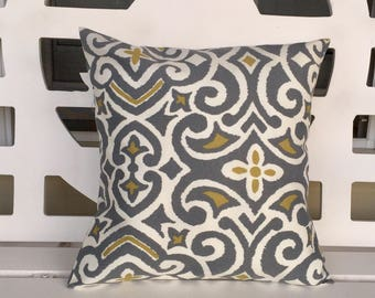 Gray  Pillow Cover 16 X 16 On SALE