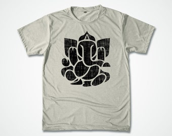 Yoga Shirt Ganesh Vintage Distress Effect stencil hand screenprint graphic T shirt Ganesha T-shirt hand screenprinting shirt - S M L XL