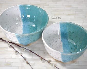 Pottery, Pottery Bowl, Pottery Serving Bowl, Wheel Thrown Pottery, Pottery Nesting Bowls, Modern, Functional Pottery, Mixing Bowl, Kitchen