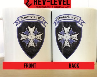 New Umbrella Corporation Emblem Resident Evil 7  Mug - Blue Umbrella Corps Logo Res Evil VII Cup by Rev-Level