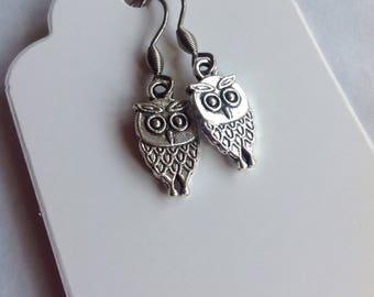 Owl Earrings Owl Jewellery Handmade Earrings Owl Charm Owl Lover Cute Owl Bird Earrings Barn Owl Little Owl Silver Owl Snowy Owl Bird Charm