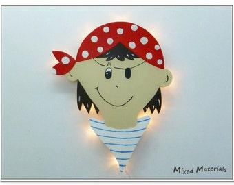 Children - snooze lamp * pirate *.