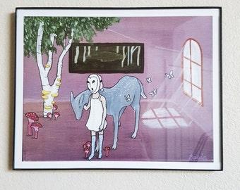 "11 x 14 Original Art Print - ""An Invite"""