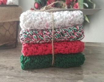 Handmade Crochet Cotton Dishcloths