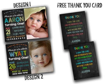 Baby invitation,Baby First Birthday Invitation, 1st Birthday, Invitations Boy Girl, Invites, Invite, Printables DIY,Annoucement,