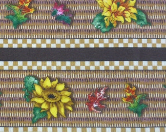 Sunflower Stripe – Autumn Bounty – Giordano Studio – SPX Fabrics – Quilting Patchwork Fabric FQ