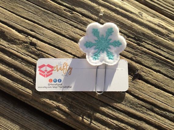 Snowflake Planner Clip/Paper Clip/Feltie Clip. Christmas planner clips.