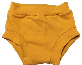 Mustard Bummies (Baby Bummies,Baby Bloomers,Diaper Cover,Toddler Bummies,Toddler Bloomers,Shorties,Mustard bloomers,Mustard diaper cover)