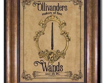 Harry Potter - Ollivanders Wand Shop - Harry Potter Vintage Style - Multiple Sizes 5x7, 8x10, 11x14, 16x20, 18x24, 20x24, 24x36
