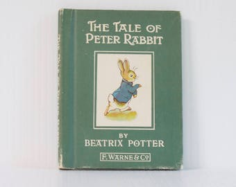 Vintage The Tale of Peter Rabbit by Beatrix Potter Hardcover Miniature Book