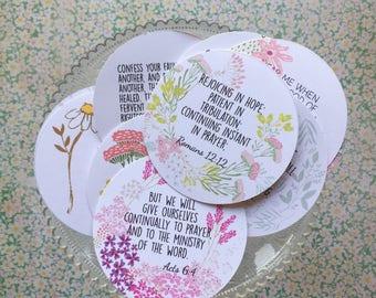 Prayer Themed- Bible Verse Cards (set of 12)