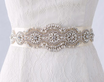 Wedding Sash Belt, Bridal Belts and Sashes, Wedding Gown Belts, Bridal Sash, Swarovski Crystal Bridal Belt, Rhinestone Bridal Belt